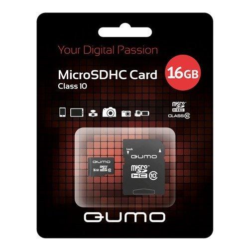 Карта памяти на 16 Гб Qumo microSD (class 10) фото
