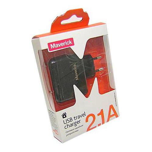 Сетевое зарядное устройство Maverick 1USB 2.1A фото