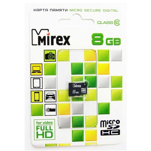 Карта памяти на 8 Гб Mirex microSD (class 10) фото