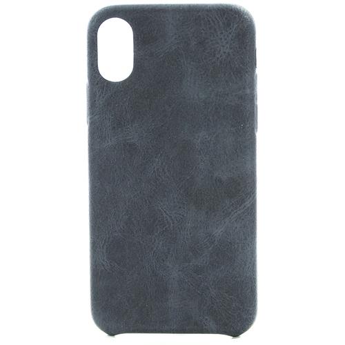 Накладка кожаная uBear Rouge Case iPhone X Black фото