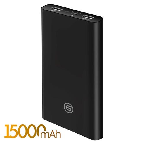 Внешний аккумулятор Ginzzu GB-3915B 15000 mAh 2.4A/5V/2USB Black фото