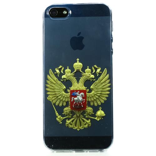 Накладка силиконовая BoraSCO ArtWorks iPhone 5/5S Двуглавый орел фото
