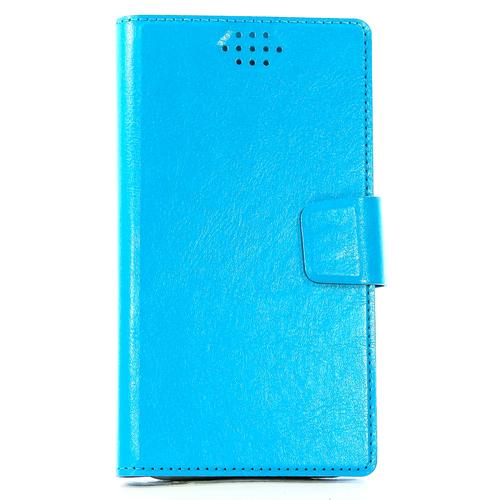 """Чехол-книжка Code универсальный M (4.3""""-5.5"""") Blue фото"""
