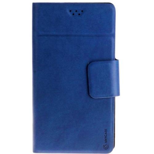 """Чехол-книжка Anycase Wallet Fold M универсальный (4.3""""-5.5"""") Blue фото"""