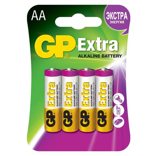 Батарея GP Extra LR6 AA (блистер 4шт.) фото