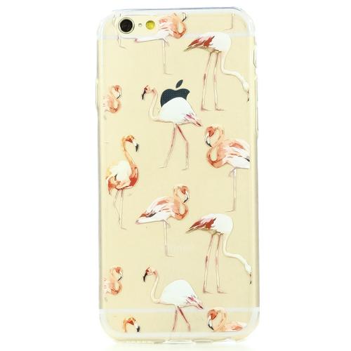 Накладка силиконовая BoraSCO ArtWorks iPhone 6/6S Фламинго фото