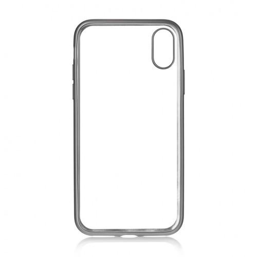 Накладка силиконовая uBear Frame Tone Case iPhone X Silver фото