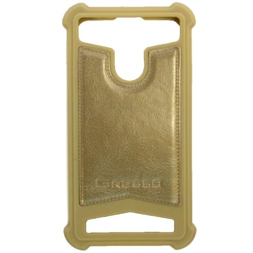 """Универсальная задняя панель Gresso классик 4,7-5,0"""" Gold фото"""