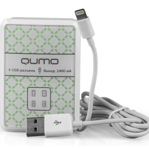 СЗУ Qumo 4USB 4A(2A+2A) White фото